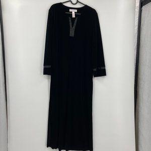 Vintage Oscar de la Renta Velvety Maxi Tunic Dress